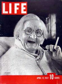 Old Lady Smoking 1937